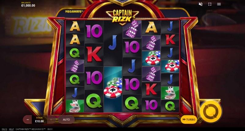 Captain Rizk Megaways :: Main Game Board
