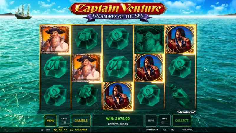 Captain Venture Treasures of the Sea :: A five of a kind win