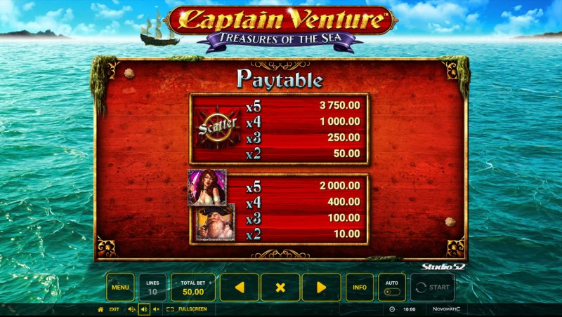 Captain Venture Treasures of the Sea :: Paytable - High Value Symbols