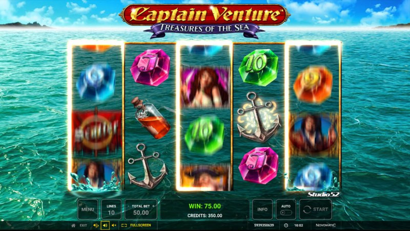 Captain Venture Treasures of the Sea :: Anchor Drop Re-Spins triggered