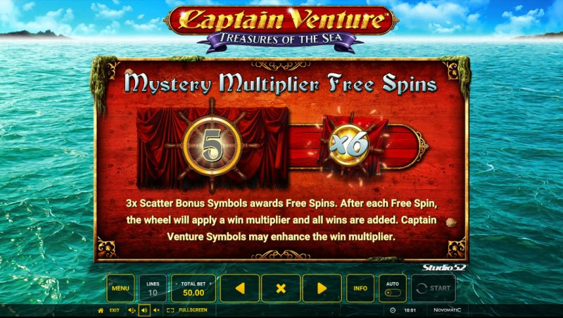 Captain Venture Treasures of the Sea :: Mystery Multiplier Free Spins