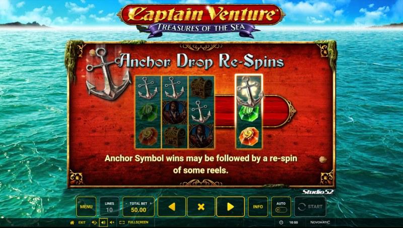 Captain Venture Treasures of the Sea :: Anchor Drop Re-Spins