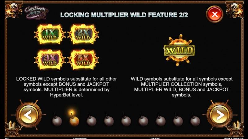 Caribbean Anne :: Wild Symbols Rules