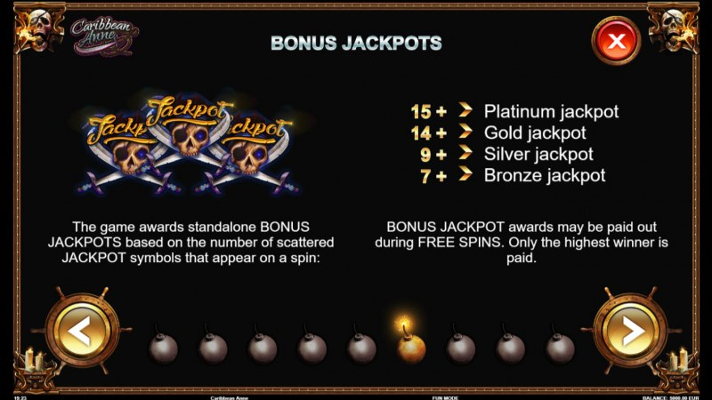 Caribbean Anne :: Bonus Jackpots
