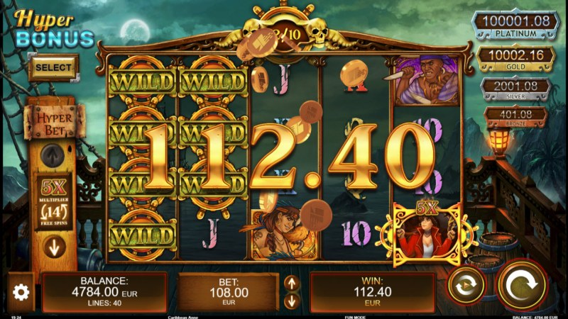 Caribbean Anne :: Multiple winning paylines