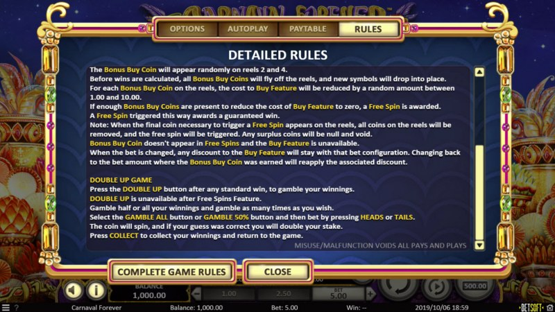 Carnival Forever :: General Game Rules