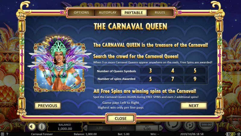 Carnival Forever :: Scatter Symbol Rules