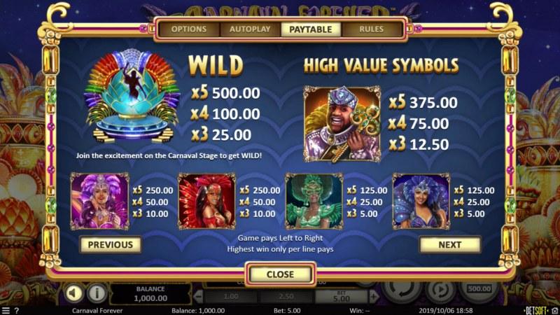 Play slots at Magik Slots: Magik Slots featuring the Video Slots Carnival Forever with a maximum payout of $10,848