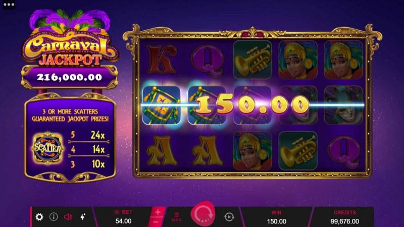 Carnival Jackpot :: A three of a kind win