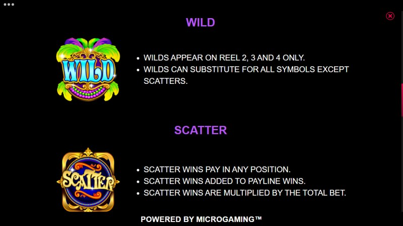 Carnival Jackpot :: Wild and Scatter Rules