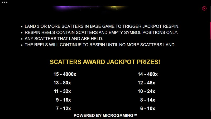 Carnival Jackpot :: Feature Rules