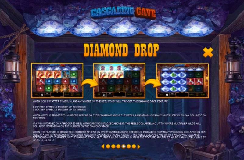 Cascading Cave :: Diamond Drop Feature