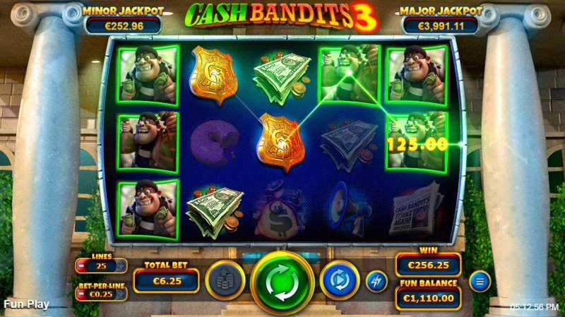 Cash Bandits 3 :: Multiple winning paylines