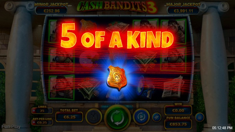 Cash Bandits 3 :: A five of a kind win