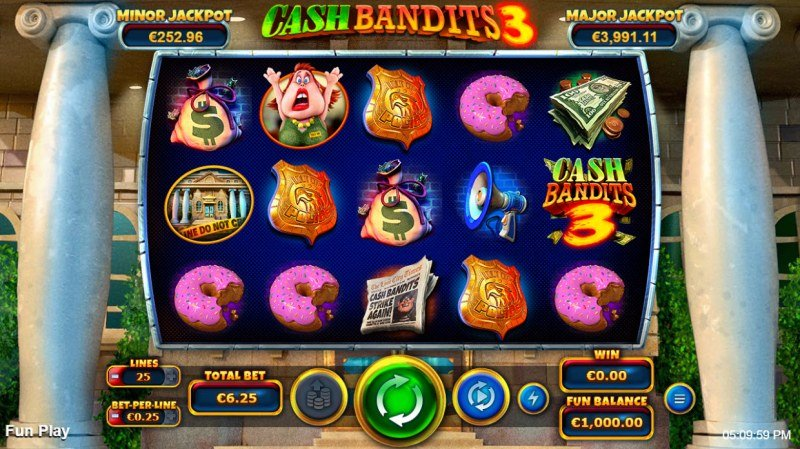 Cash Bandits 3 :: Main Game Board