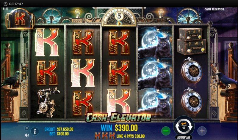 Cash Elevator :: Multiple winning paylines