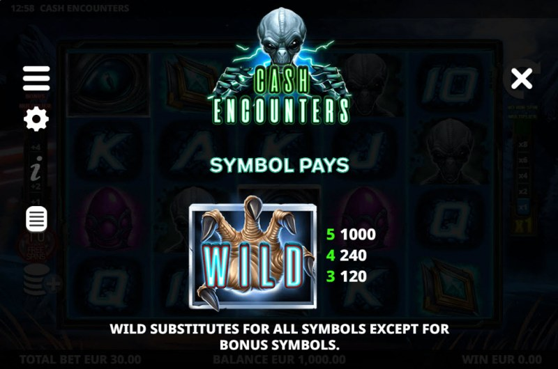 Cash Encounters :: Wild Symbol Rules