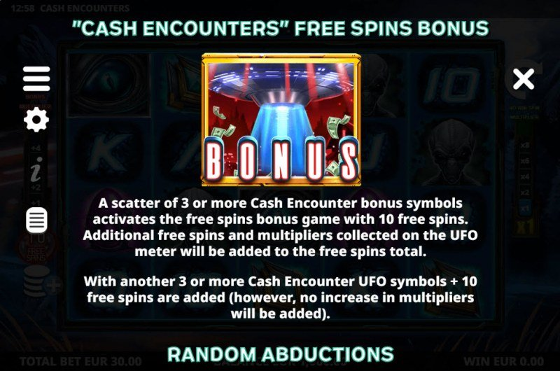 Cash Encounters :: Free Spin Feature Rules