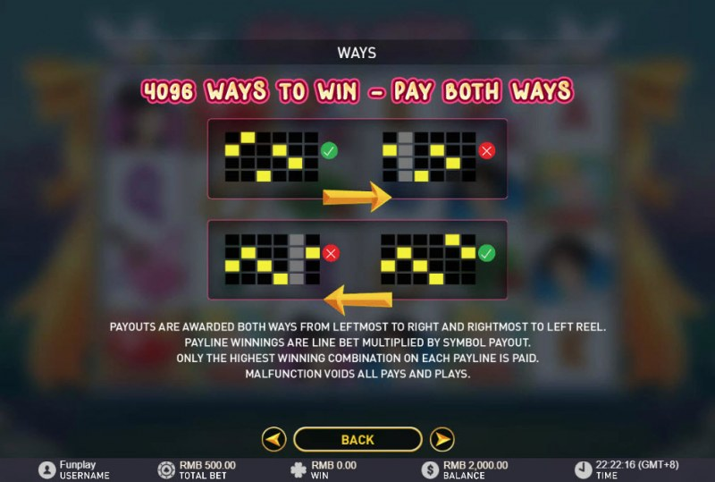 Cash & Kisses :: 4096 Ways to Win