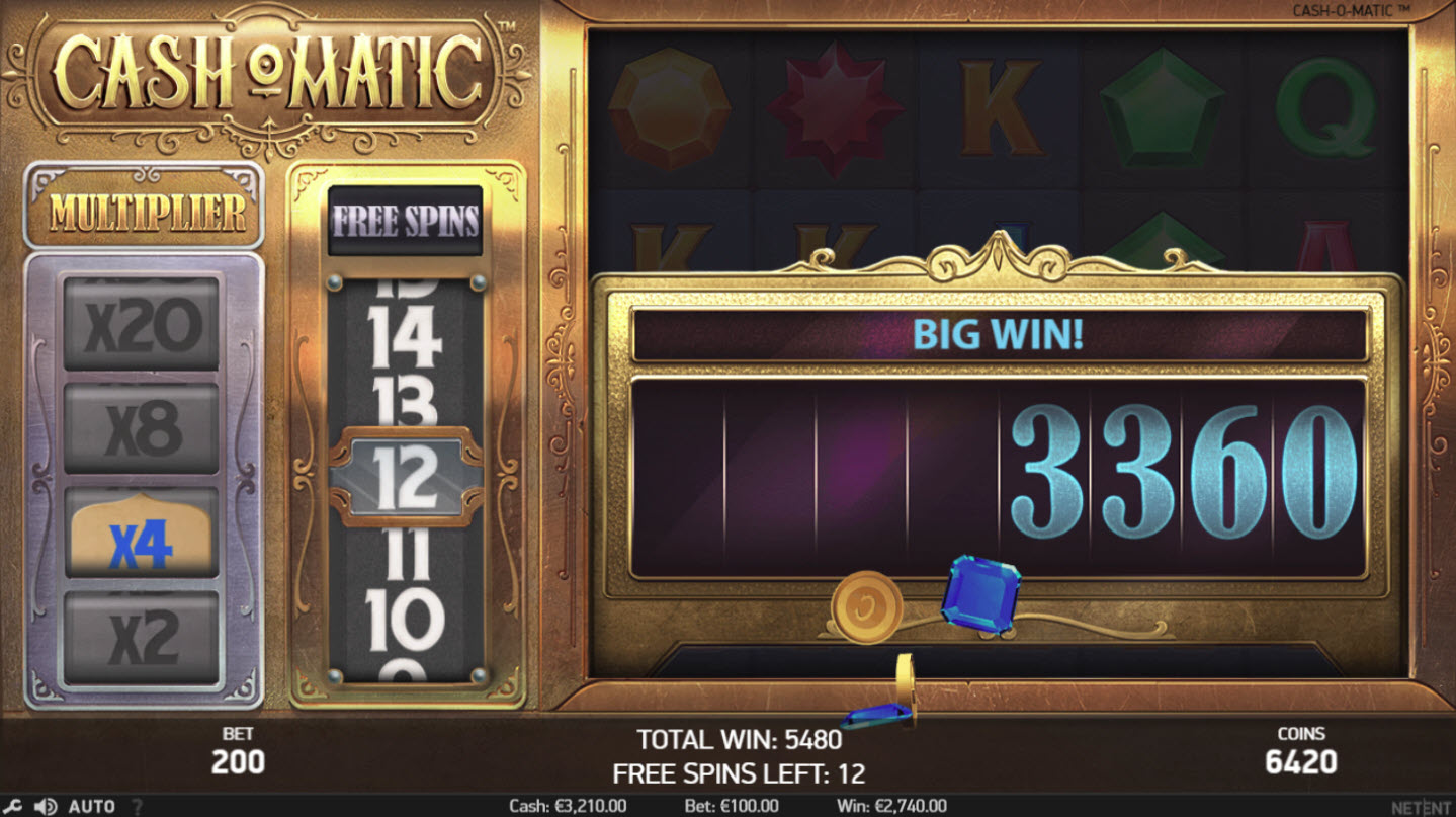 Play slots at Mr Green: Mr Green featuring the Video Slots Cash-O-Matic with a maximum payout of $500,000