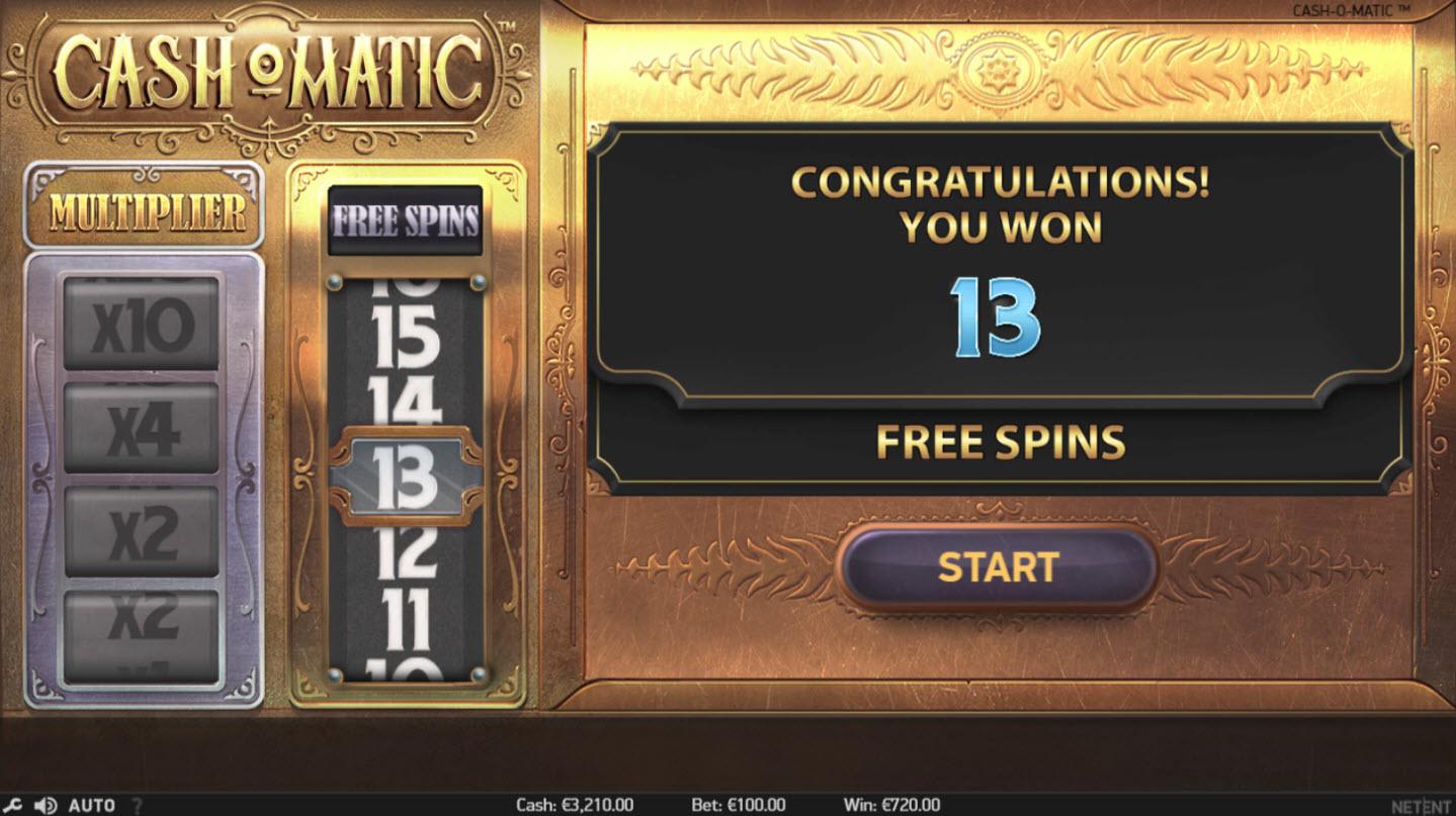 Play slots at Club Vulkan: Club Vulkan featuring the Video Slots Cash-O-Matic with a maximum payout of $500,000