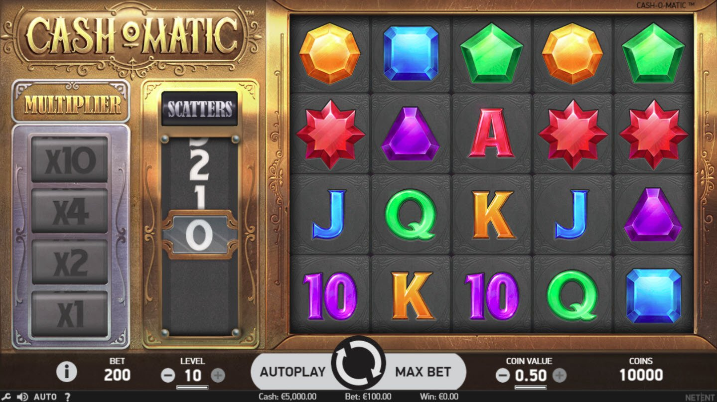 Play slots at Free Spins: Free Spins featuring the Video Slots Cash-O-Matic with a maximum payout of $500,000