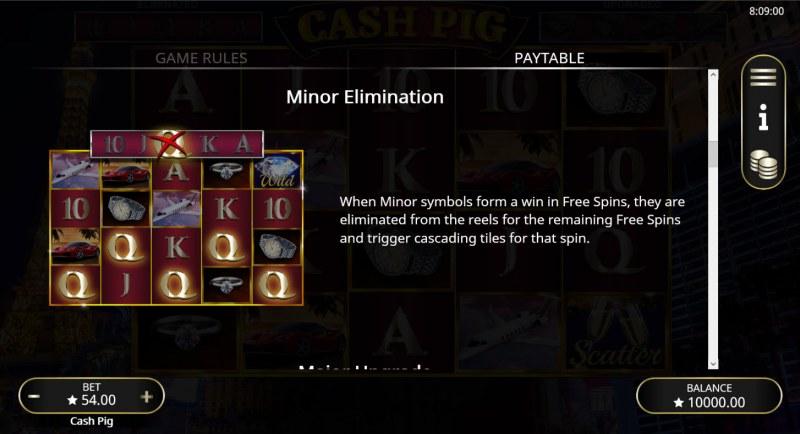 Cash Pig :: Minor Elimination