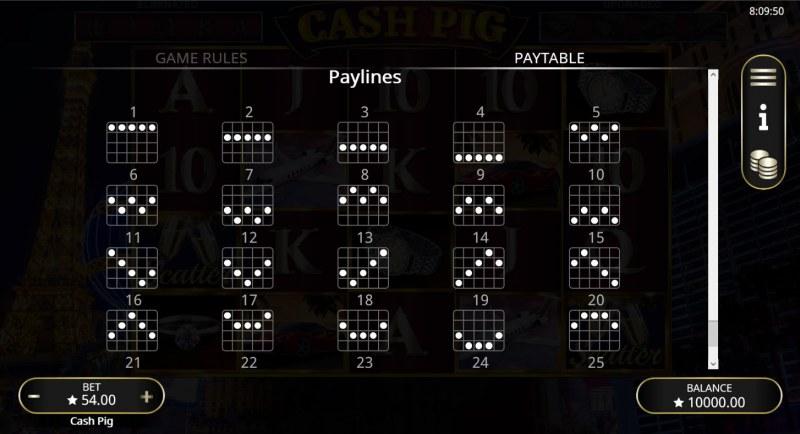 Cash Pig :: Paylines 1-20