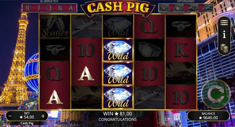 Cash Pig :: A three of a kind win