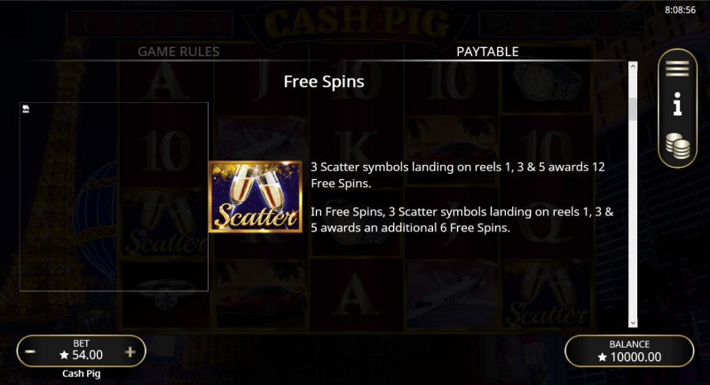 Cash Pig :: Free Spin Feature Rules