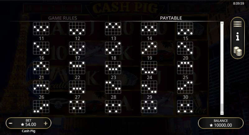 Cash Pig :: Paylines 21-30
