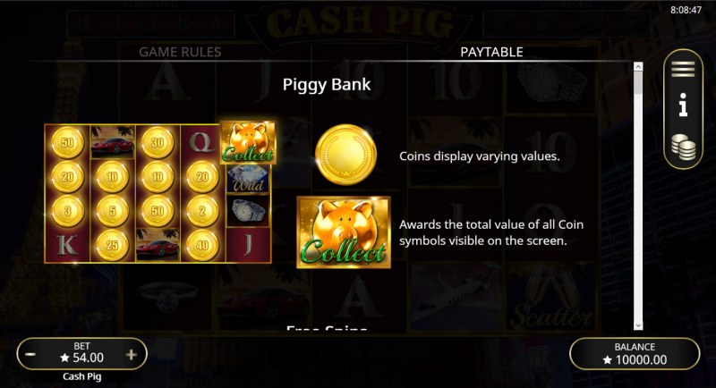 Cash Pig :: Feature Rules
