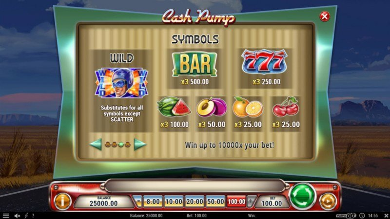 Cash Pump :: Paytable