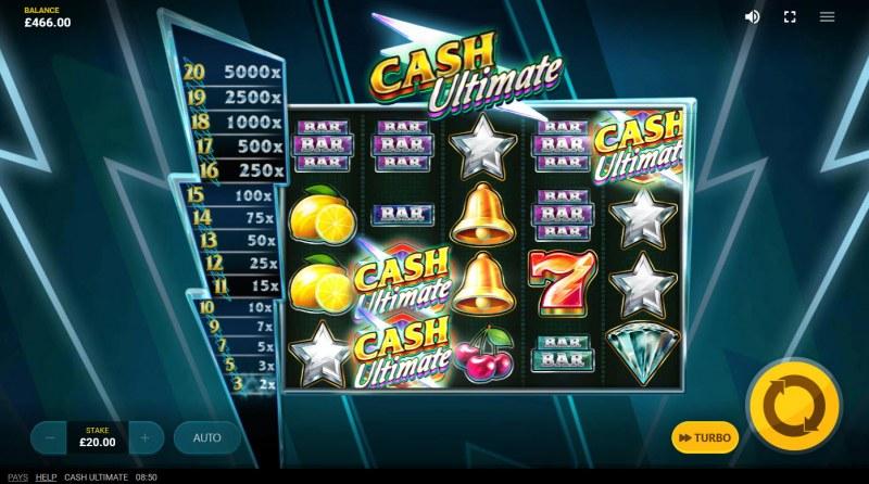 Cash Ultimate :: Scatter symbols triggers the Cash Lock bonus feature