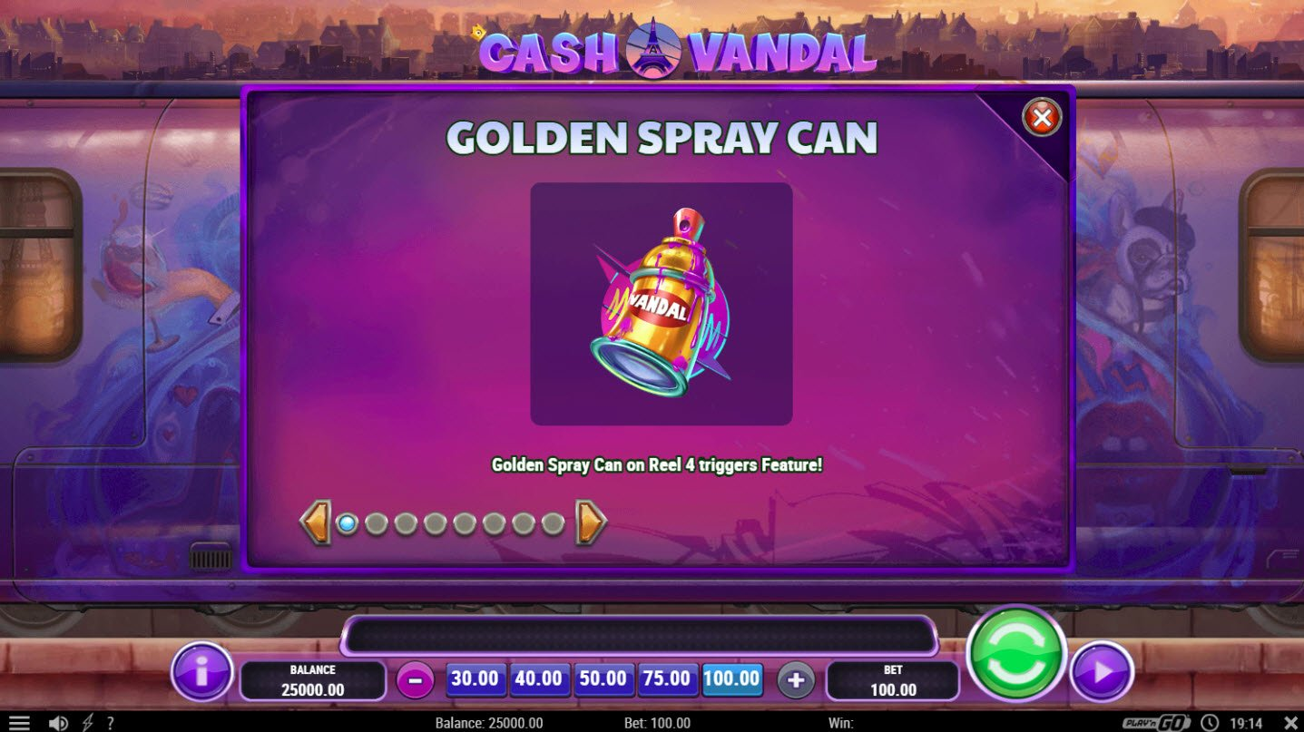 Play slots at Queen Vegas: Queen Vegas featuring the Video Slots Cash Vandal with a maximum payout of $50,000