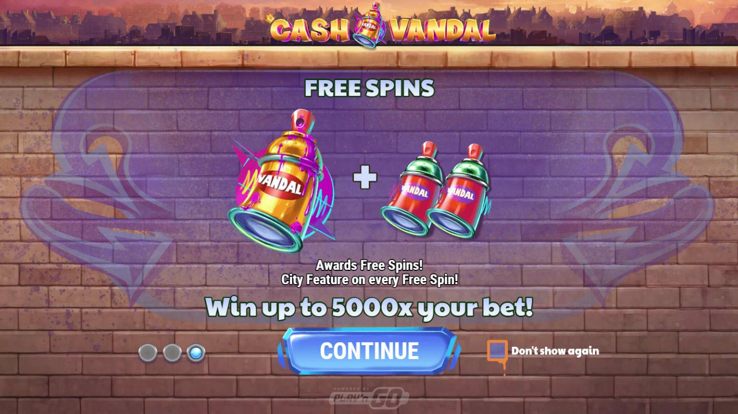 Play slots at Vera&John: Vera&John featuring the Video Slots Cash Vandal with a maximum payout of $50,000