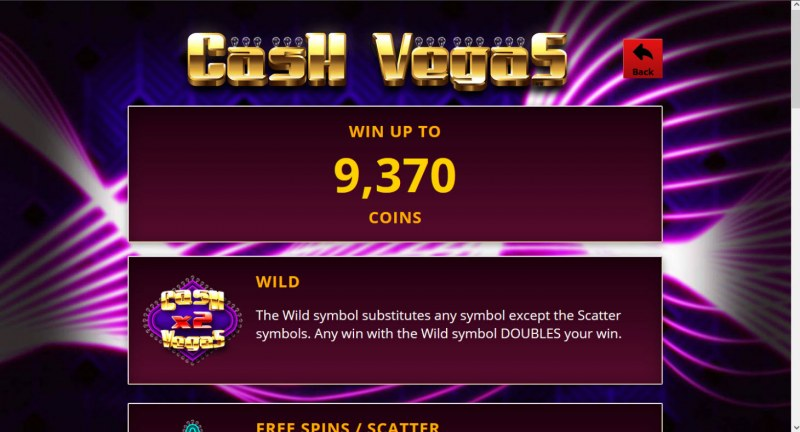 Cash Vegas :: Win Up To 9,370 Coins