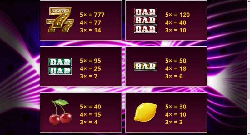 Cash Vegas :: Paytable