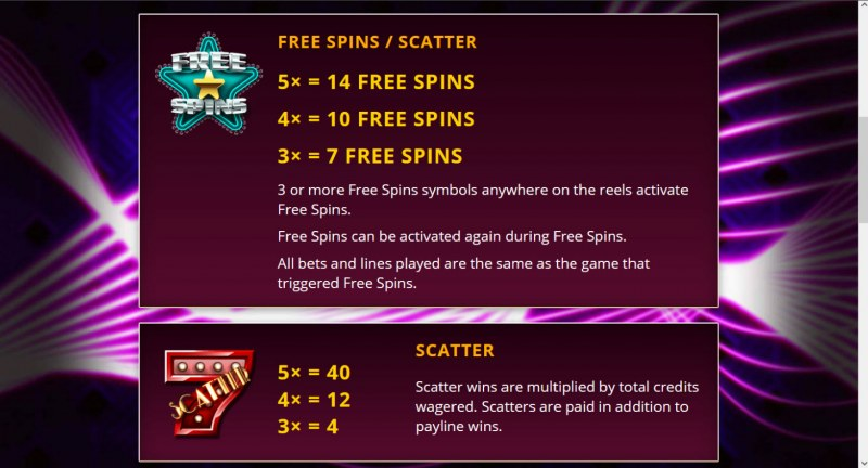 Cash Vegas :: Free Spin Feature Rules