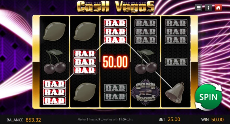 Cash Vegas :: A three of a kind win