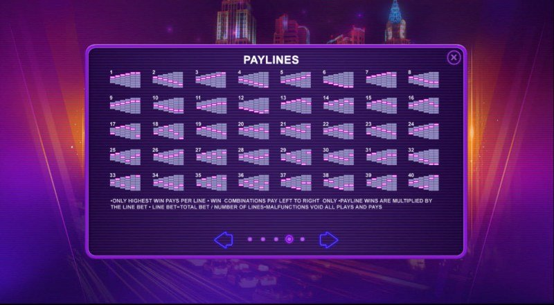 Casino Charms :: Paylines 1-40