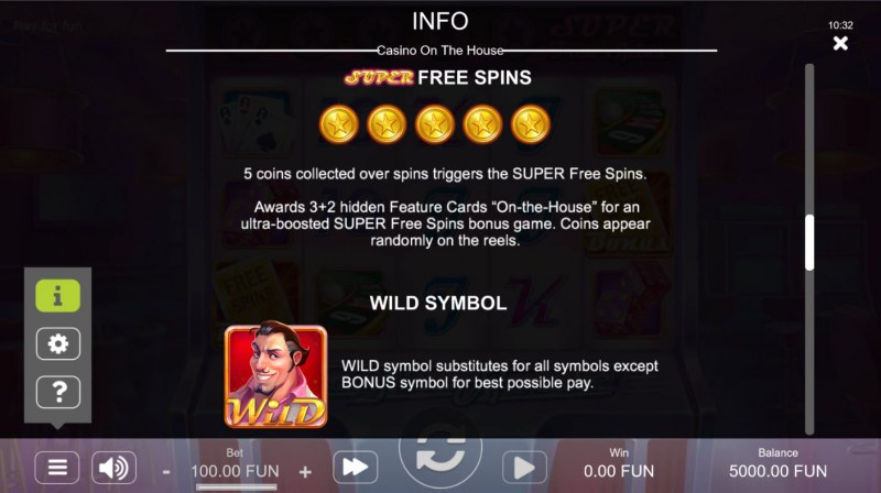 Casino on the House :: Super Free Spin Feature Rules