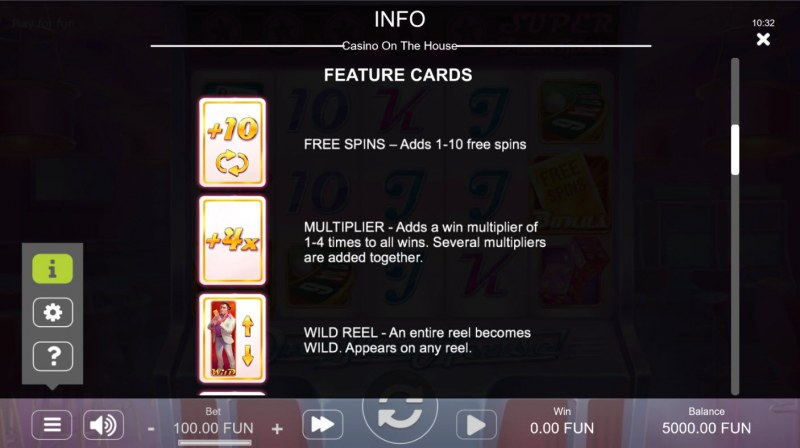 Casino on the House :: Feature Rules