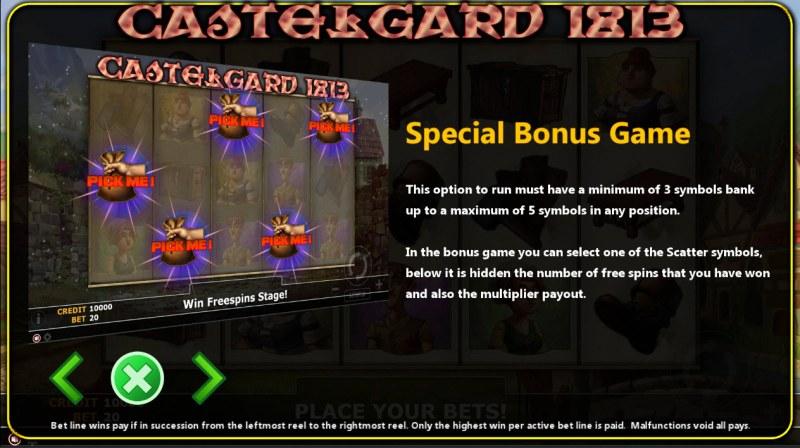 Castlegard 1813 :: Bonus Game Rules