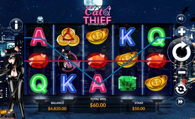 Cat Thief :: Multiple winning paylines
