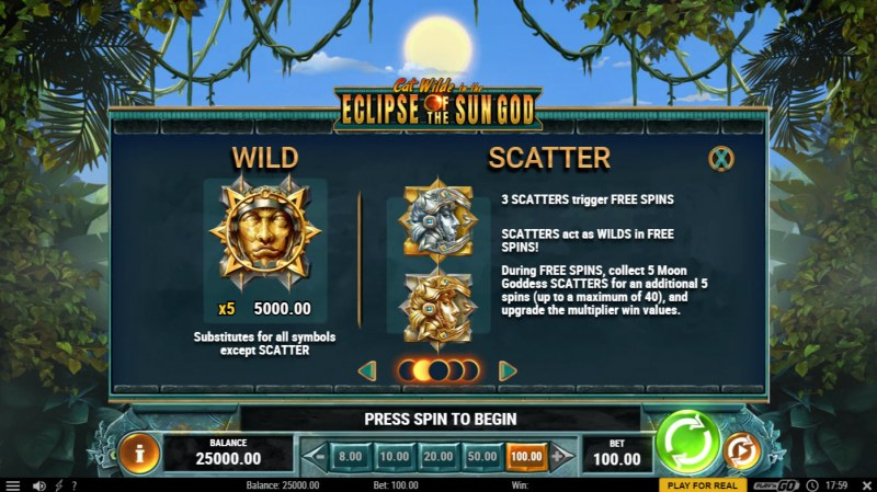 Cat Wilde in the Eclipse of the Sun God :: Wild and Scatter Rules
