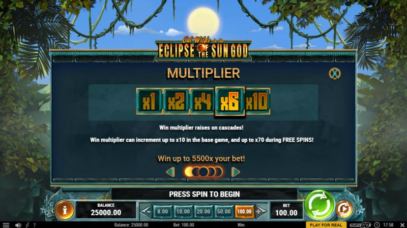 Cat Wilde in the Eclipse of the Sun God :: Multiplier Feature