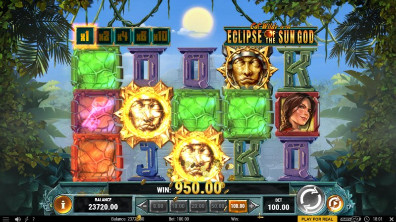 Cat Wilde in the Eclipse of the Sun God :: Multiple winning paylines