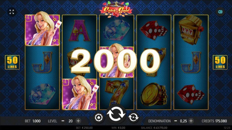 Catch the Gold :: Scatter symbols triggers the free spins feature