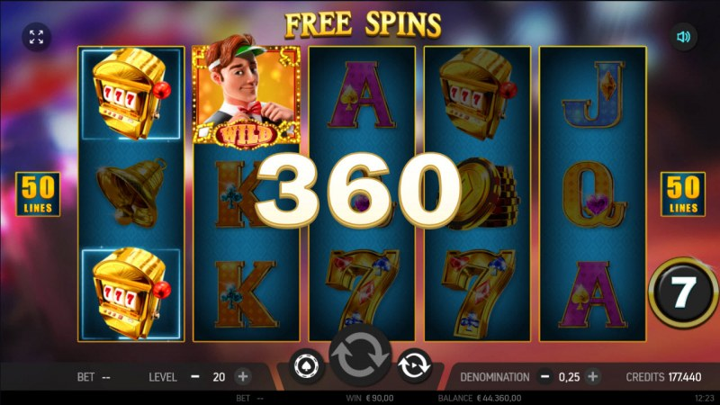 Catch the Gold :: Free Spins Game Board